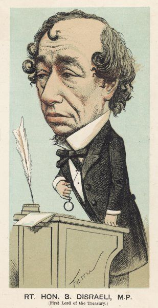 BENJAMIN DISRAELI 1st Earl of Beaconsfield English politician and author