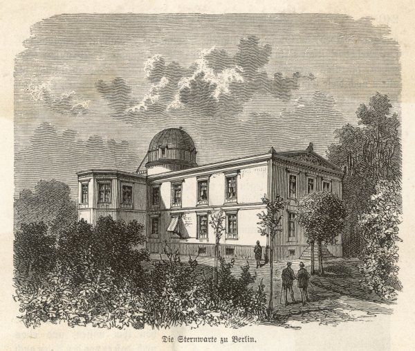 The Berlin Observatory, Germany. It was designed by the architect Karl Friedrich Schinkel, and opened in 1835
