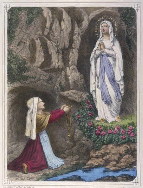 The Virgin Mary reveals to Bernadette Soubirous that she is 'the Immaculate Conception' Date: 25 March 1858