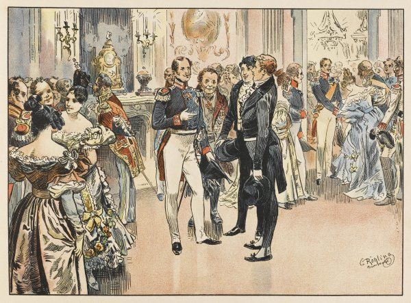 Bismarck meets Prince Wilhelm (later Wilhelm I) at a reception