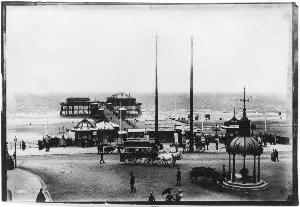 Blackpool pier and section of the promanade