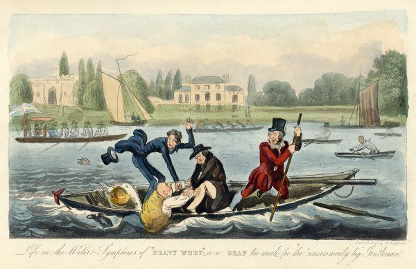 A boating accident on the River Thames