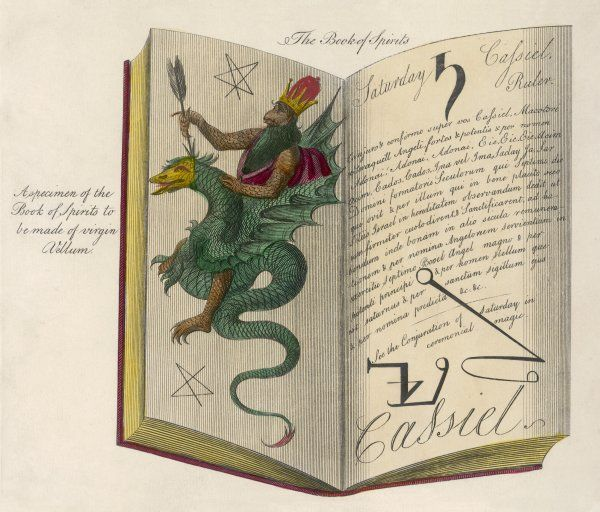 BOOK OF MAGIC. 'A specimen of the Book of Spirits to be made of virgin Vellum'