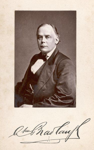 CHARLES BRADLAUGH Statesman and reformer photo in 1877