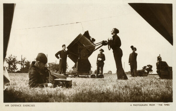 British Air Defence Exercises - Searchlight operators