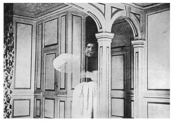 THE BROCKLEY COURT GHOST [near Clevedon, Somerset] Student Spencer-Palmer photographed by his brother as a ghostly monk - photo often taken to be genuine