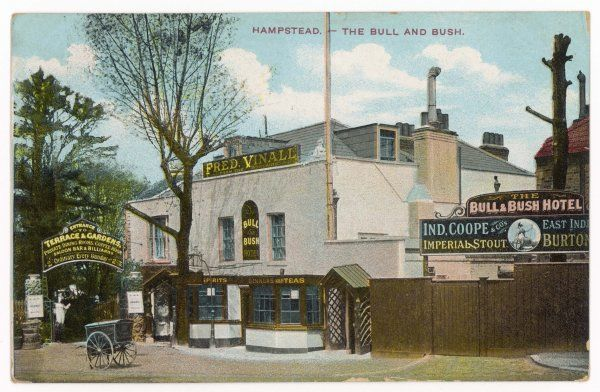 A famous Hampstead pub, still in existence today