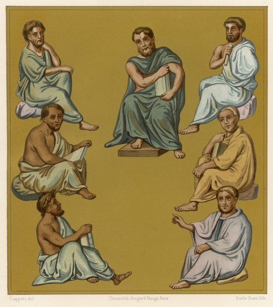 BYZANTINE DOCTORS 1. Greek doctors of the Byzantine Empire plate 1 of 2