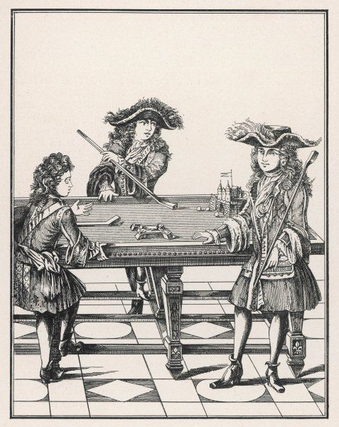 The sons of Louis XIV playing billiards