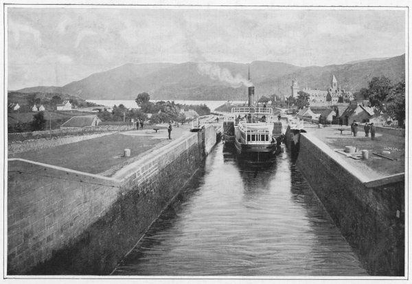 CALEDONIAN CANAL - Scene at Fort Augustus