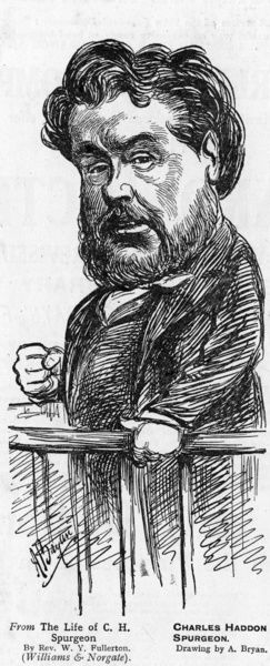 Caricature of the preacher Charles Haddon Spurgeon
