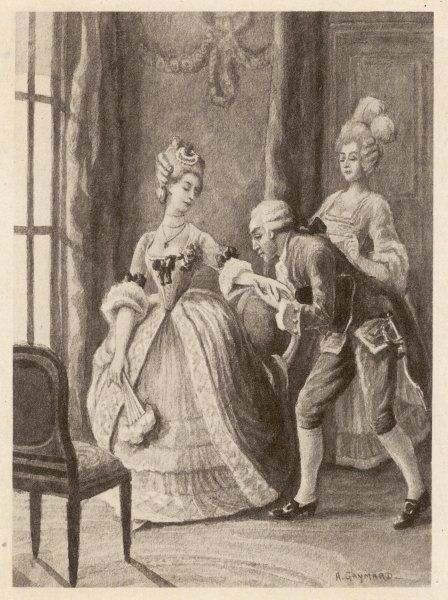 Giacomo Casanova (1725-1798) is introduced to the Duchess of Northumberland by Lady Harrington
