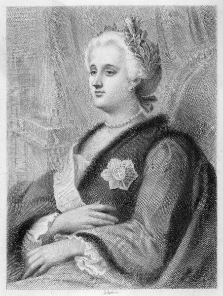 CATHERINE II/SCHOFF. CATHERINE THE GREAT Empress of Russia 1762-96