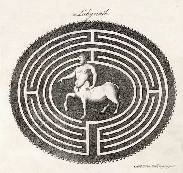 A centaur in a labyrinth