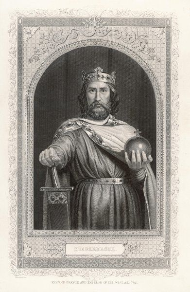 Charlemagne (Carolus Magnus. Karolus Magnus, Charles the Great), King of the Franks from 768, King of the Lombards from 774, and Emperor of the Romans from 800
