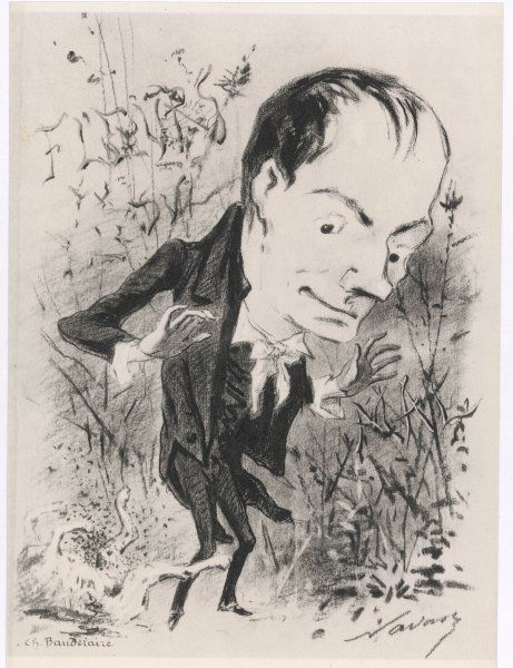 CHARLES BAUDELAIRE Satire of the French poet and art critic, author and translator of Edgar Allen Poe's tales Date: 1821-1867