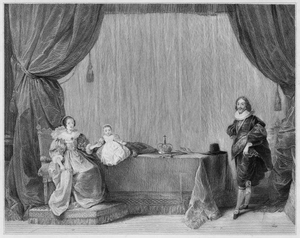 CHARLES I/F. BACON. CHARLES I KING OF ENGLAND With Henrietta Maria and child
