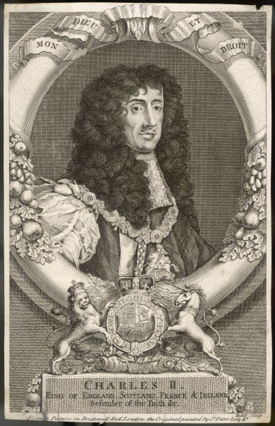 CHARLES II - King of England 1660 - 1685