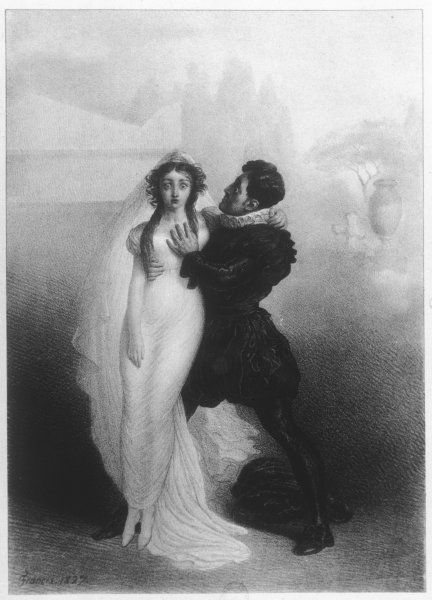 HARRIET SMITHSON - British actress in the role of Juliet with Charles Kemble as Romeo
