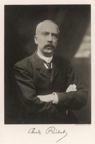 CHARLES RICHET French scientist and psychical researcher, Nobel Prize 1913