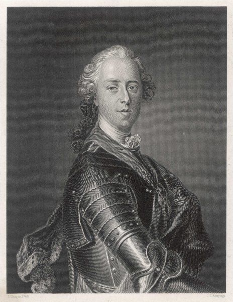 CHARLES EDWARD STUART Known as 'The Young Pretender' wearing armour