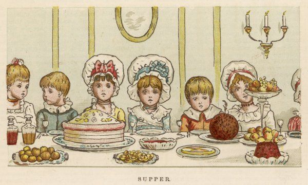 The children's Christmas supper