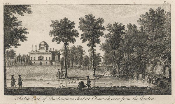 Chiswick House viewed from the garden: seat of the late Earl of Burlington