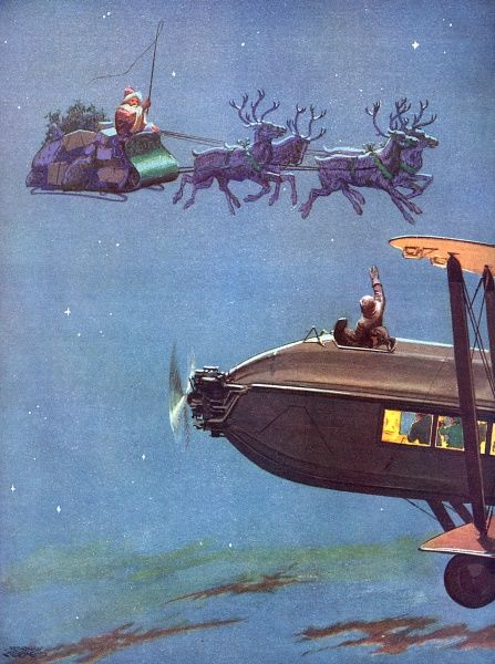 Christmas Eve on the Airway by Norman Keene