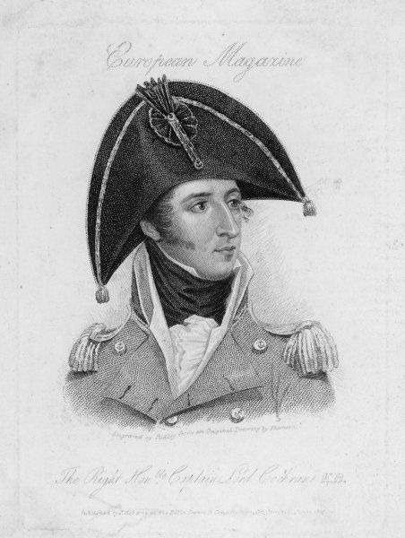 THOMAS, Lord COCHRANE, 10th earl of Dundonald Naval commander, expelled from Royal Navy 1814, commanded Chile, Brazilian and Greek navies, then pardoned 1832