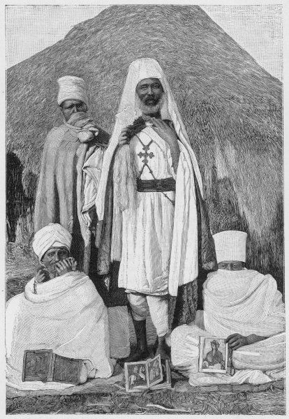 COPTS, ERITREA/1895. A group of Coptic priests, Eritrea