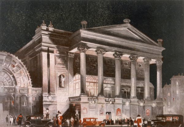 Covent Garden 1930. Covent Garden Theatre at night