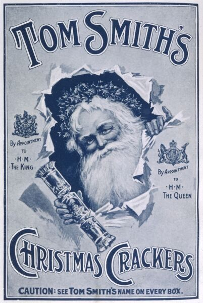 Father Christmas Advertising Tom Smith's crackers