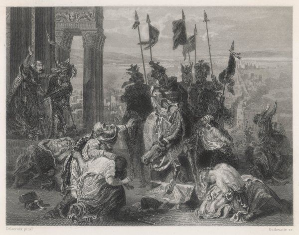 FOURTH CRUSADE After quarreling with the Byzantine rulers, the Crusaders take Constantinople where Baudouin de Flandre is crowned emperor