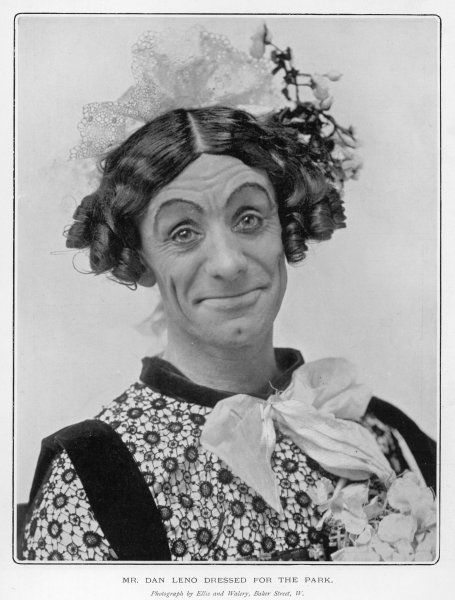 DAN LENO/PANTO DAME. DAN LENO Music hall artist dressed as a woman