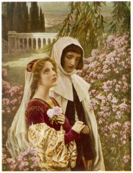 DANTE ALIGHIERI At age 18, he meets his beloved Beatrice again and walking with her in the garden inspires him to write