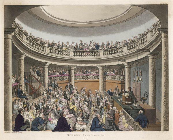 DAVY LECTURES. Humphry Davy lectures at the Surrey Institution, London