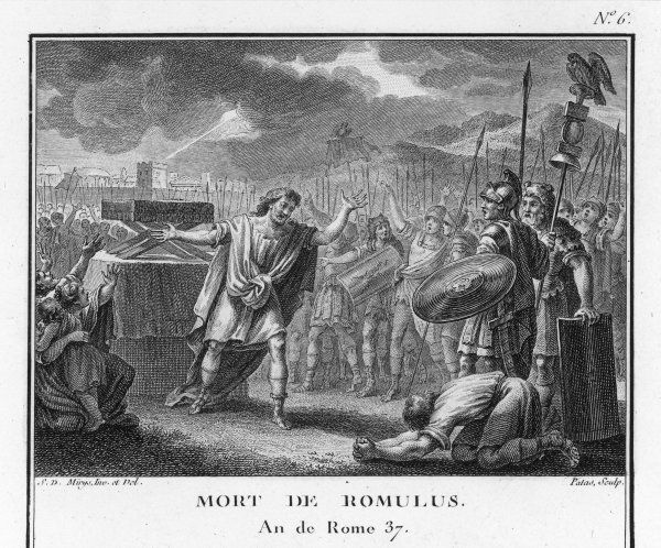 The death of Romulus, founder of Rome