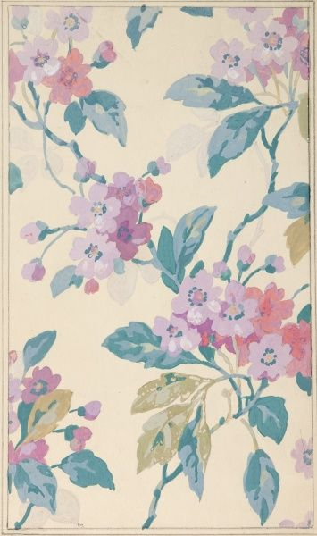 Design for wallpaper with flowers pencil watercolour and gouache design for wallpaper with flowers sisterspd