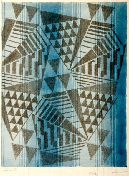 Design for Woven Textile in art deco style