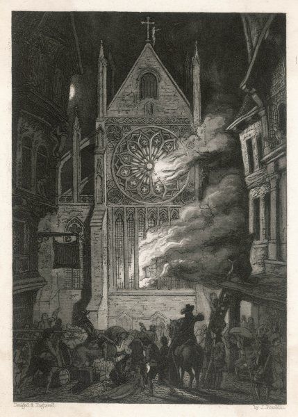 The destruction of old Saint Paul's cathedral