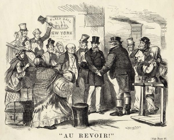 "CHARLES DICKENS ""Au Revoir"" - Dickens is bidden farewell to by some of the characters from his novels"