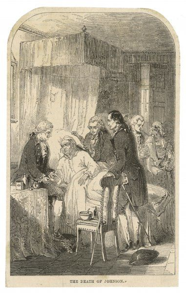 DR JOHNSON/DEATHBED. DR SAMUEL JOHNSON On his deathbed