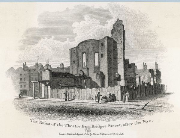 Drury Lane Theatre, London, after the fire