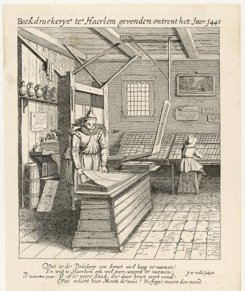 A Dutch printing house - typesetting and printing