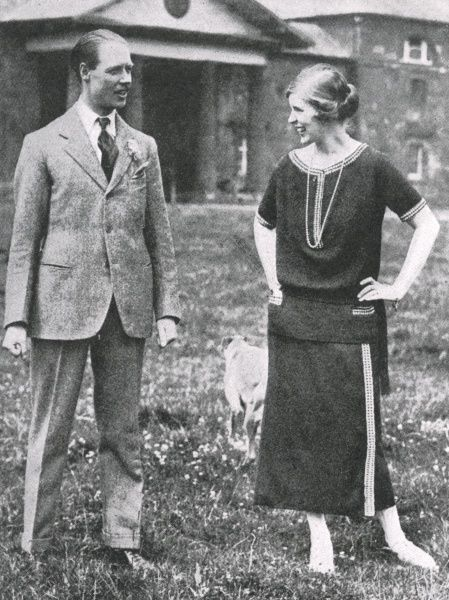"Albert Edward John Spencer, 7th Earl Spencer (23 May 1892 9 June 1975), known formally as The Hon Albert Spencer until 1910 and from then until 1922 as Viscount Althorp, and less formally as ""Jack"" Spencer, pictured with his wife, Countess Spencer"