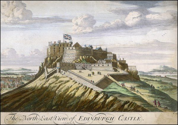 Edinburgh: north-east view of the Castle
