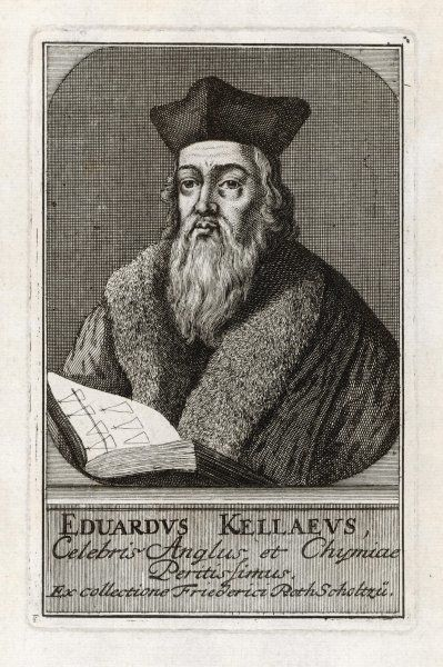 EDWARD KELLEY occultist who assisted John Dee in his experiments, carried out some of his own - a charlatan and opportunist