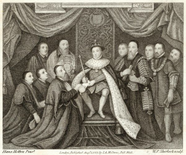 EDWARD VI BRIDEWELL. Edward VI grants Charter to Bridewell Hospital