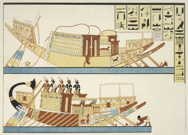 EGYPTIAN BOATS. Transport vessels of Ancient Egypt