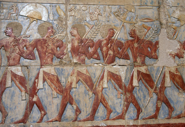 Egyptian soldiers in the expedition to the Land of Punt. Te